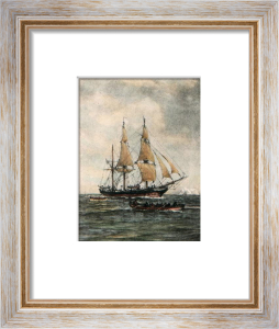 New Bedford Whaler (Restrike Etching) by Wilde Parsons