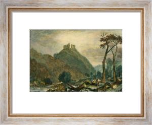 Okehampton Castle, River Okemont (Restrike Etching) by Joseph Mallord William Turner