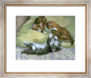 Three Playmates (Restrike Etching) by Harry Dixon