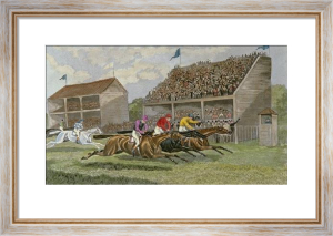A Close Finish (Restrike Etching) by TNH Walsh