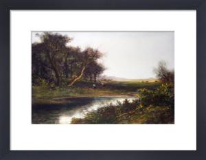 Corot View - Plate II (Bridge) (Restrike Etching) by Jean-Baptiste-Camille Corot