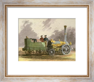 The Northumbrian Engine (Restrike Etching) by I. Shaw