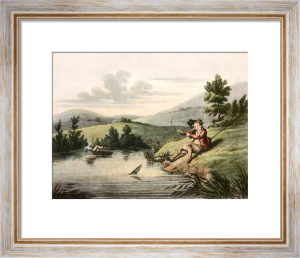 McLeans Fishing - Plate II (Restrike Etching) by Anonymous