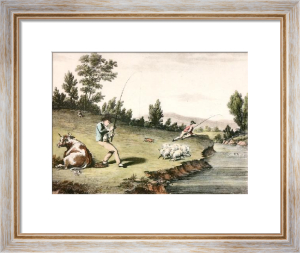 McLeans Fishing - Plate III (Restrike Etching) by Anonymous