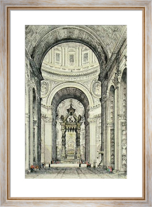 St. Peters, Rome (Restrike Etching) by Anonymous