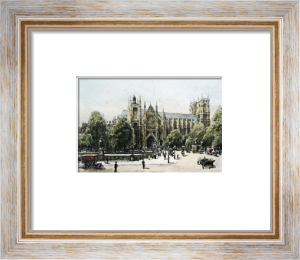 London, Westminster Abbey (Restrike Etching) by Harry C. Brewer