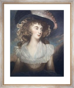 Mrs Tickell (Restrike Etching) by George Romney