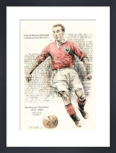 Football - Stanley Matthews (Restrike Etching) by Terence Gilbert