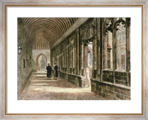 Winchester College, Cloisters (Restrike Etching) by Sheppard Dale