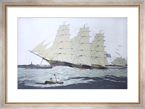 Thomas Bell Tea Clipper (Restrike Etching) by Geoffrey S. Garnier