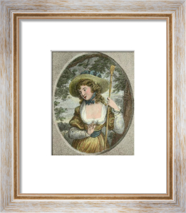 The Wandering Nymph (Restrike Etching) by Samuel Shelley