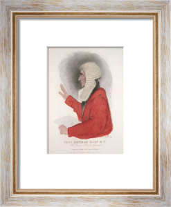 Thomas Denman, Esq MP (Restrike Etching) by Abraham Wivell
