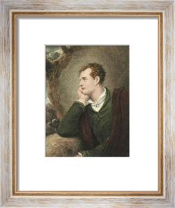 George Lord Byron (Restrike Etching) by Richard Westall