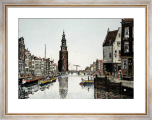 Amsterdam (landscape) (Restrike Etching) by J.R. Power