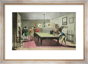 Billiards (Restrike Etching) by E.F. Lambert