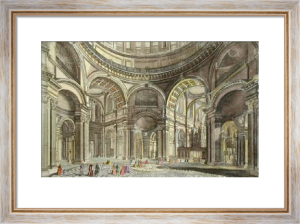 St Pauls, Perspective of Inter (Restrike Etching) by Anonymous