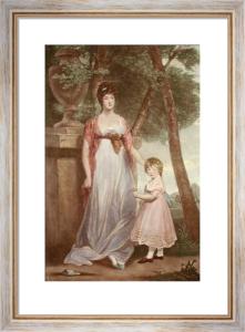 Countess Chomondeley & Child (Restrike Etching) by Sir Joshua Reynolds