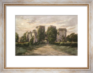 Raglan Castle, Gwent (Restrike Etching) by Anonymous