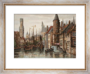 Bruges & Belfry (Restrike Etching) by Anonymous