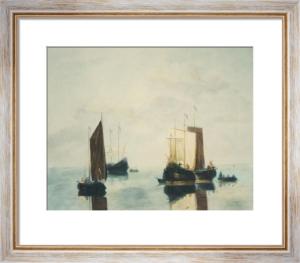 Ships in a Calm (Restrike Etching) by Willem Van de Velde