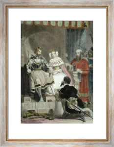 Columbus Submitting His Plans (Restrike Etching) by Edward Henry Corbould