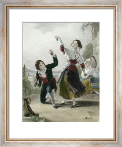 Dancing the Tarantella (Restrike Etching) by Thomas Uwins