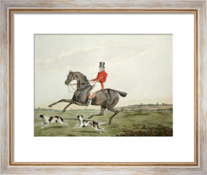 Hunting Recollections, Ware (Restrike Etching) by Henry Alken