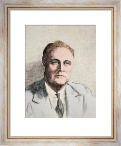 Mr F. D. Roosevelt (Restrike Etching) by Anonymous