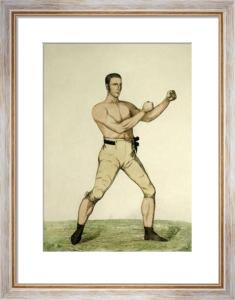 John Langan, Irish Champion (Restrike Etching) by A. Easto