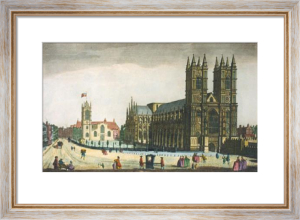 Westminster Abbey, South View (Restrike Etching) by Thomas Bowles
