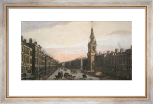 Church of St Mary-Le-Bow (Restrike Etching) by Thomas Bowles