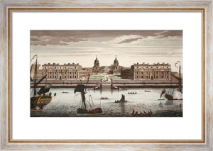 Greenwich Hospital from River (Restrike Etching) by Sir Christopher Wren