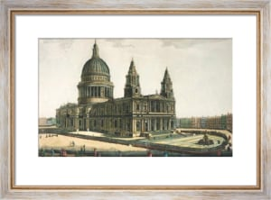 North West View of St Paul's (Restrike Etching) by Anonymous