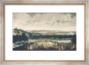 View of London & Westminster A. (Restrike Etching) by Peter Tillemans