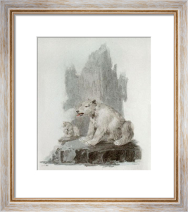 Polar Bear (Restrike Etching) by Julias Caesar Ibbetson