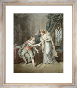 Lady Jane Grey's Last Missive (Restrike Etching) by G.R. Ryley