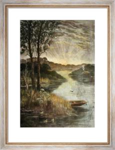 Sunset (Restrike Etching) by H. Skrimshire
