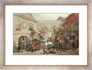 Old Angel Inn, Islington (Restrike Etching) by Thomas Rowlandson