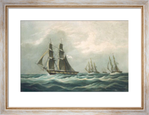 RYS Brig Water Witch, 8th Sept. (Restrike Etching) by W.J. Huggins