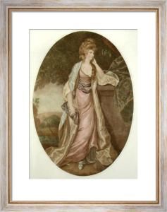 Lady Louisa Manners (Restrike Etching) by Sir Joshua Reynolds