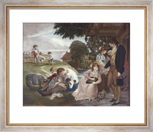 Summer - Bartolozzi (Restrike Etching) by William Hamilton
