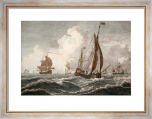 Brisk gale (Restrike Etching) by Willem Van de Velde