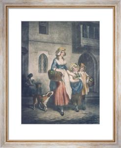 London Cries, Primroses (Restrike Etching) by Francis Wheatley