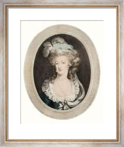 Marie Antoinette (Restrike Etching) by Anonymous