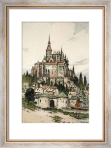 Mont St. Michel (Restrike Etching) by Anonymous