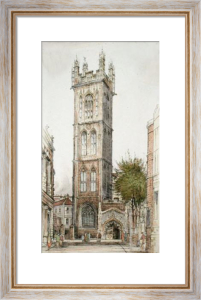 St Stephens Church, Bristol (Restrike Etching) by Anonymous