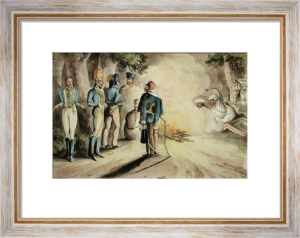 Army Discoveries - Dinner (Restrike Etching) by Anonymous