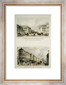 Regent Street (Restrike Etching) by Thomas H. Shepherd