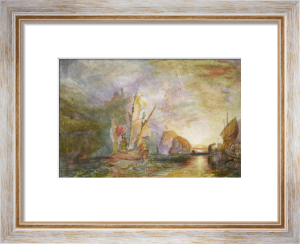 Ulysses Deriding Polyp. (Sm) (Restrike Etching) by Joseph Mallord William Turner