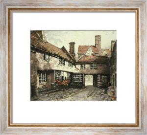 Canterbury, Burford Inn (Restrike Etching) by Anonymous